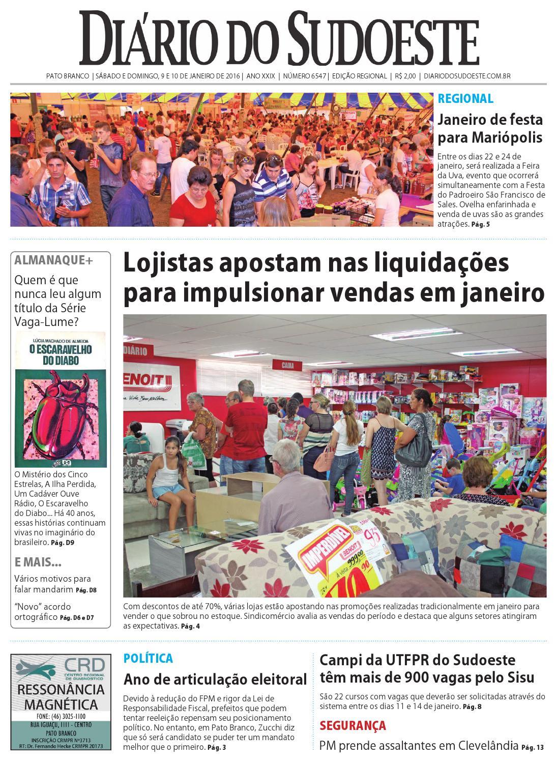 0c414408b Diário do sudoeste 9 e 10 de janeiro de 2016 ed 6547 by Diário do Sudoeste  - issuu