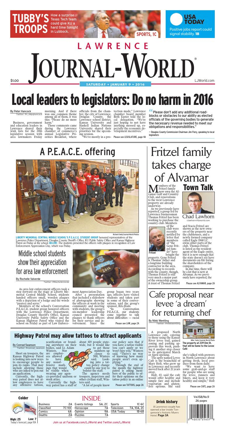 554031cb Lawrence Journal-World 01-09-2015 by Lawrence Journal-World - issuu