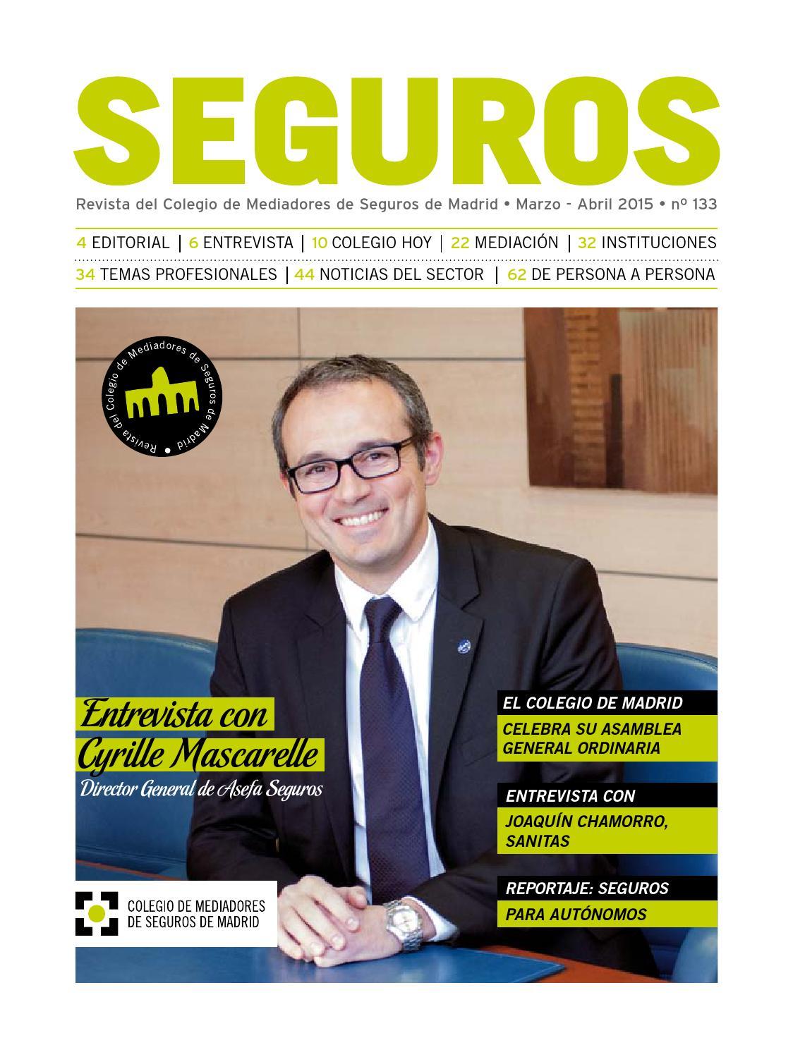 Revista seguros 133 by Colegio Mediadores de Seguros de Madrid - issuu