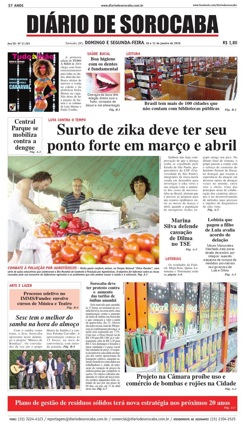 Edição de 10 de janeiro de 2016 by DIÁRIO DE SOROCABA - issuu 6d7c40ee7b1e0