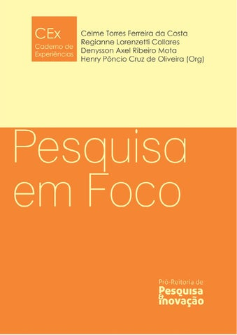 a9d71c43b CEx - Pesquisa em Foco by Junior Ferrer - issuu
