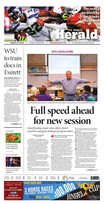 Everett Daily Herald January 10 2016 By Sound Publishing Issuu