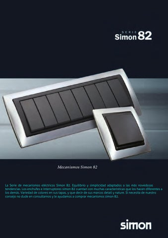Folleto simon 82 by material electrico sumidelec issuu - Mecanismos simon 82 ...