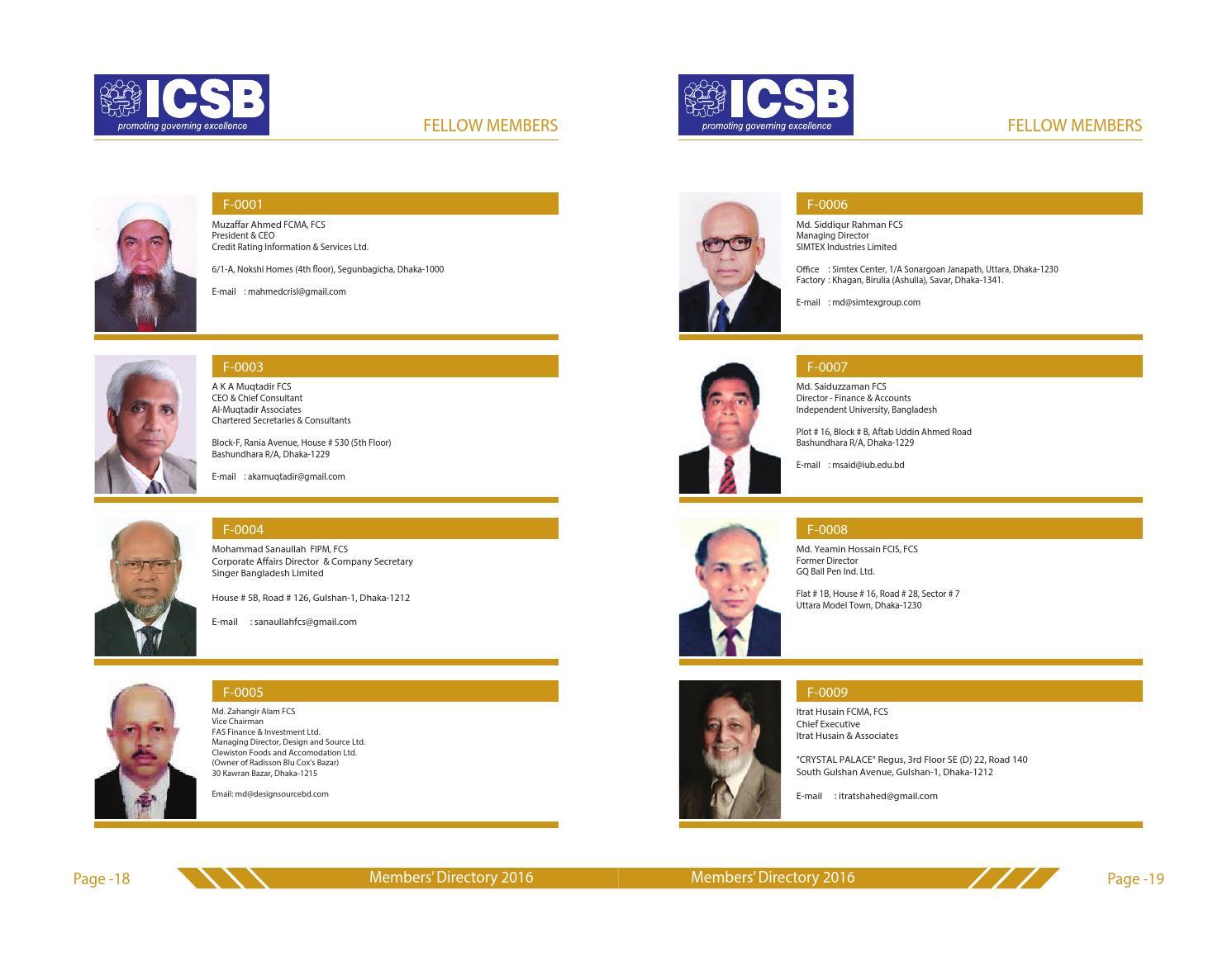 Fellow Members By Icsb Bangladesh Issuu