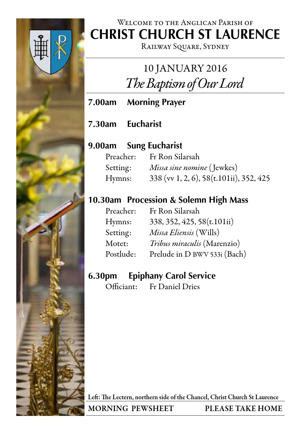 10-january-2016-baptism-of-our-lord by Christ Church St