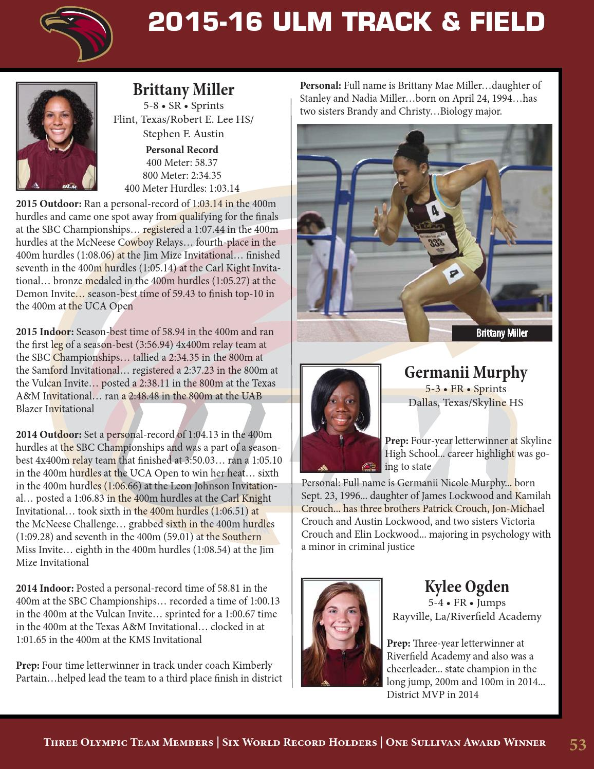 2015 16 ulm track field media guide by ulm issuu