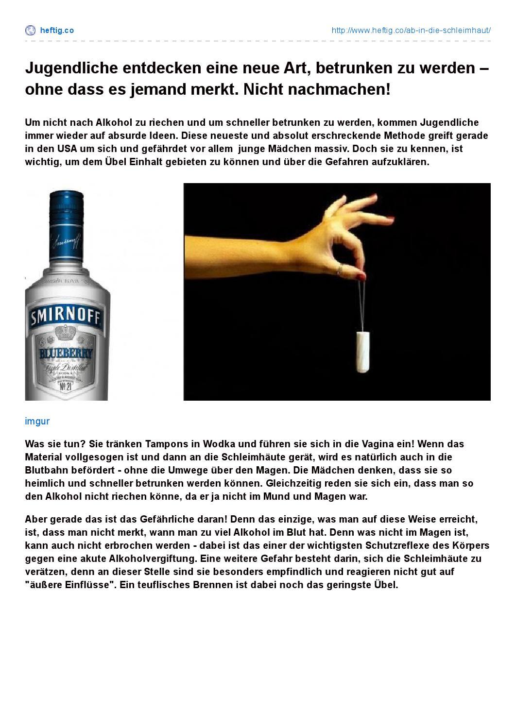 Alkohol der nicht riecht