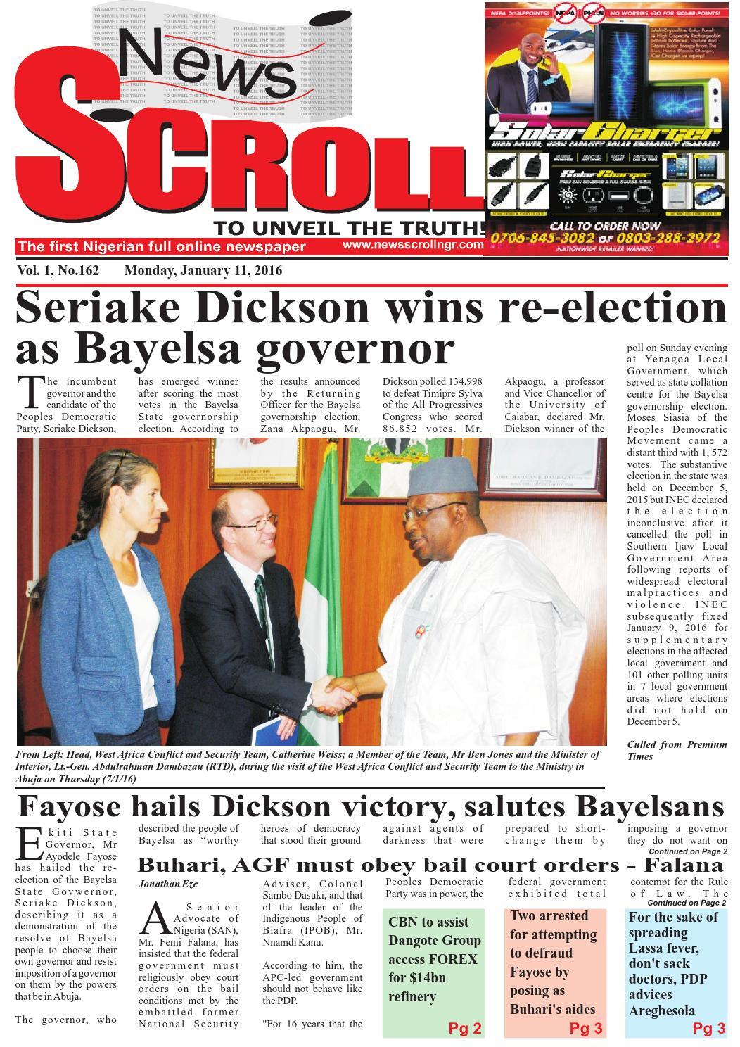 E-NewsScroll January 11, 2016 by NewsSCscroll - issuu