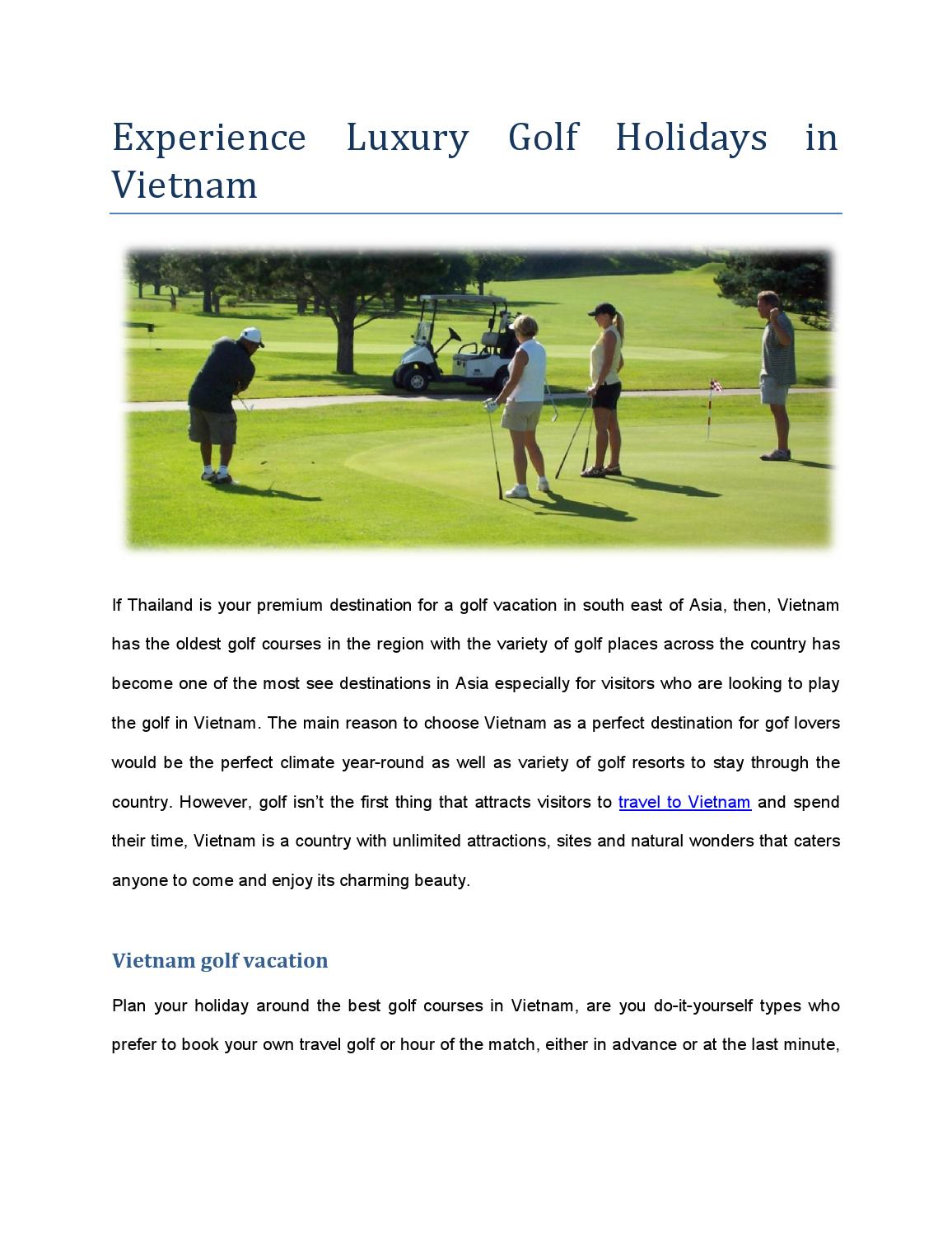 Experience luxury golf holidays in vietnam by luxury travel vietnam experience luxury golf holidays in vietnam by luxury travel vietnam issuu solutioingenieria Gallery
