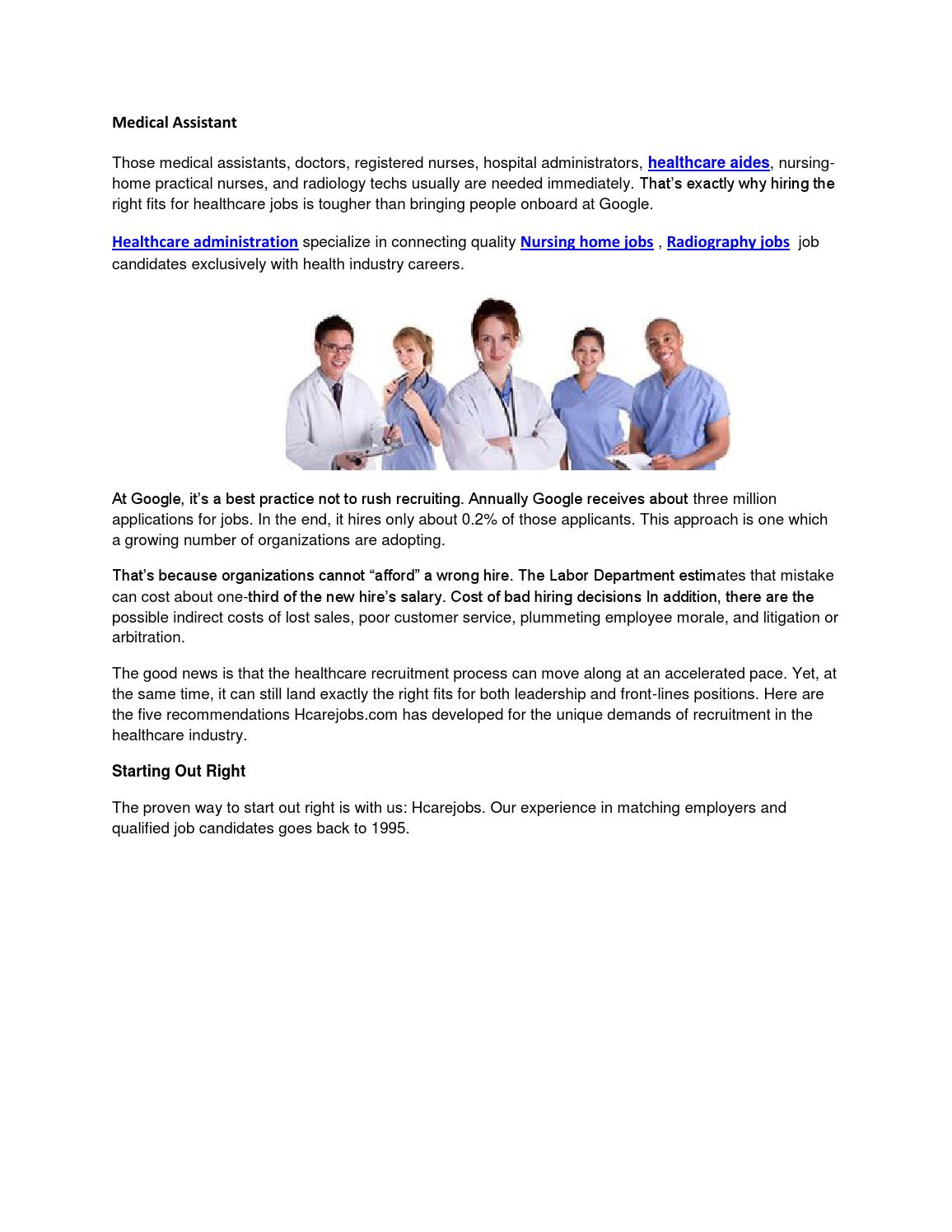 Medical assistant by Healthcare positions - issuu