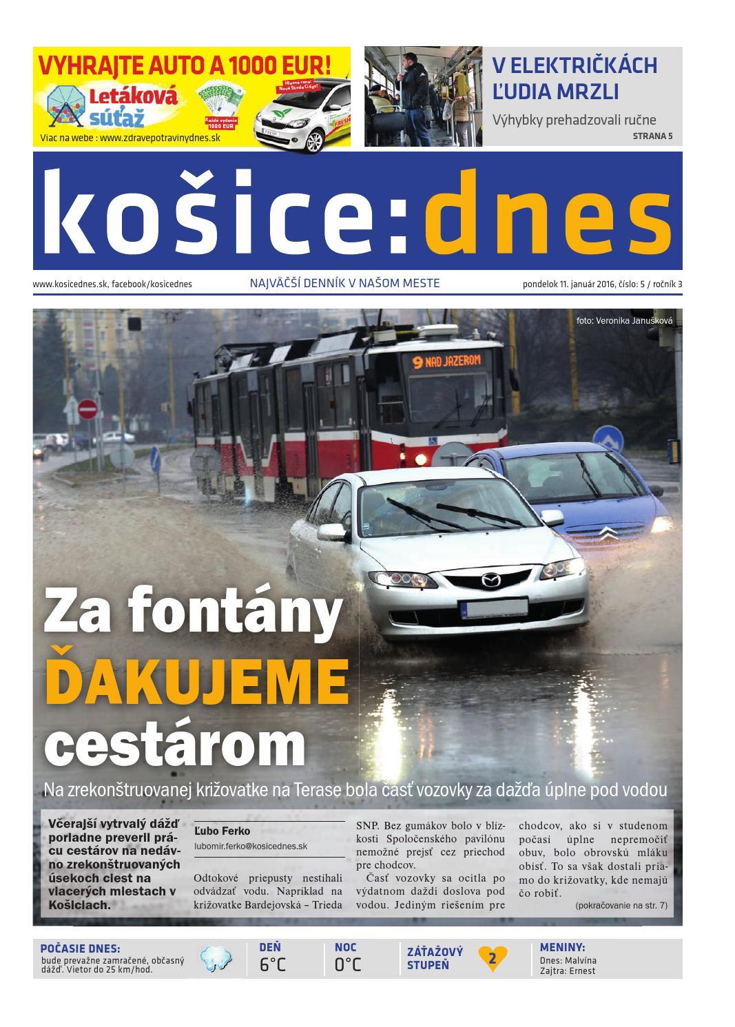košice dnes 11.1.2016 by KOŠICE DNES - issuu 1f3521a0f9a