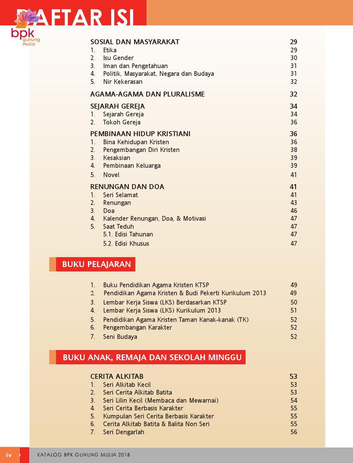 Katalog Buku BPK Gunung Mulia 2016 By PT BPK Gunung Mulia