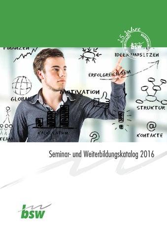 bsw-Seminar- und Weiterbildungskatalog 2016 by Jana Noltenius - issuu