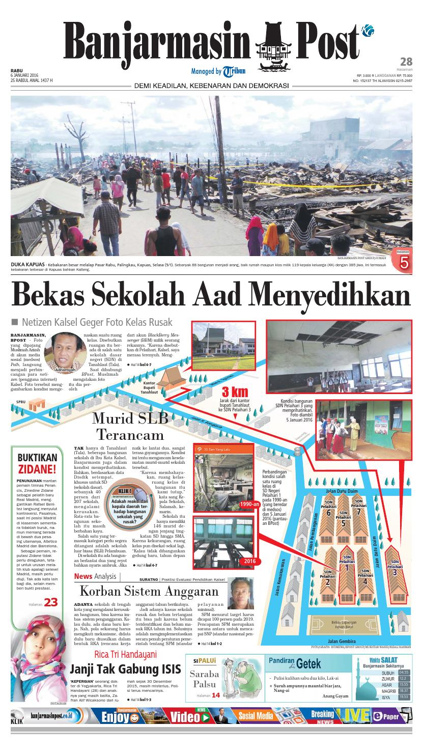 Banjarmasin Post Rabu 6 Januari 2016 By Issuu Tcash Vaganza 35 Sarung Orange Instan Anak Usia 1 7 Tahun