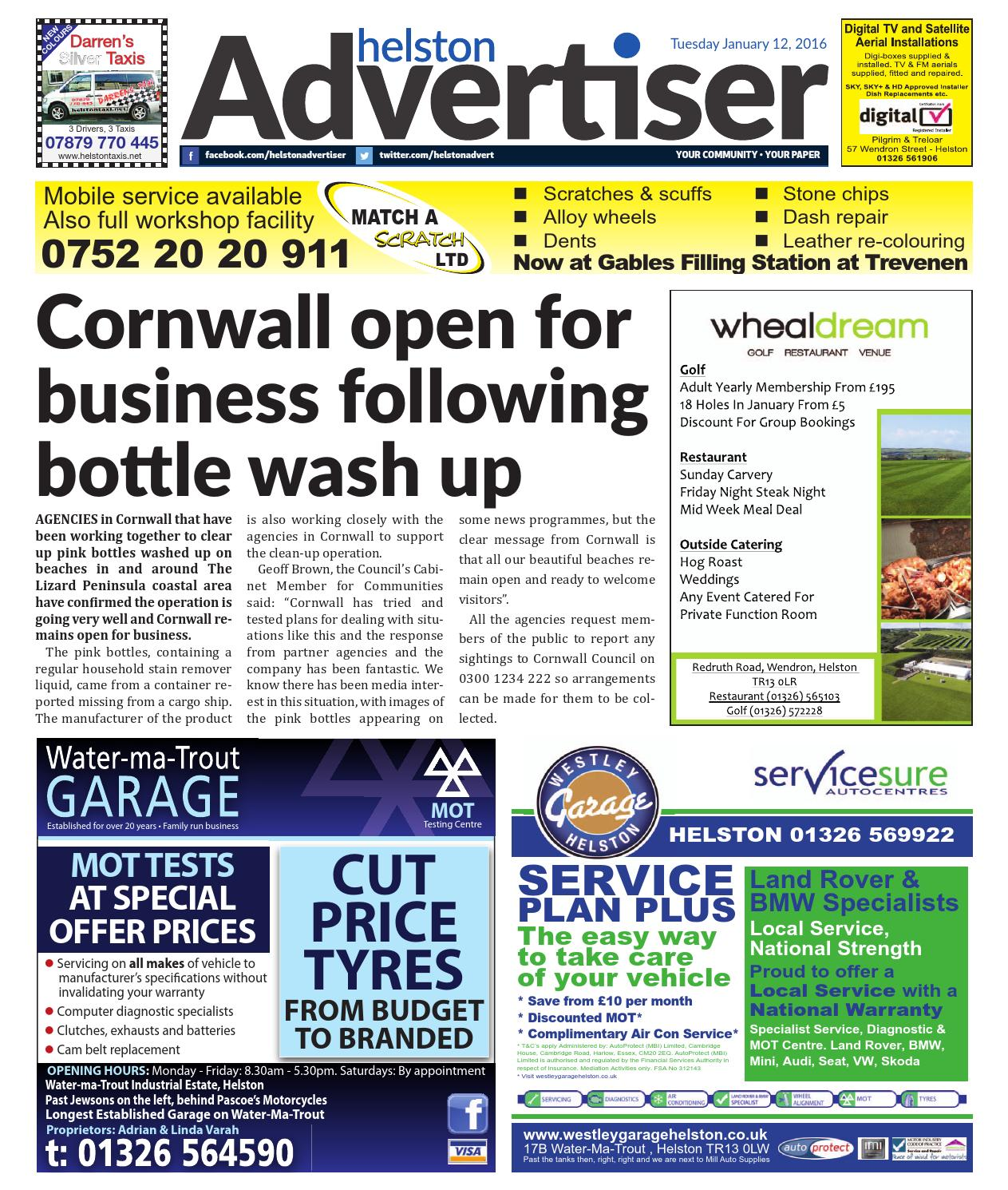 Helston advertiser january 12th 2016 by helston advertiser issuu fandeluxe Images