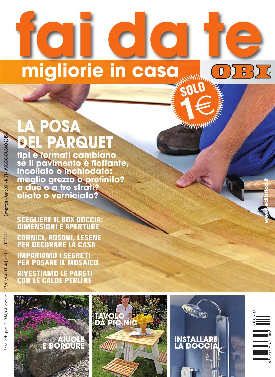 Fai da te obi by edibrico issuu for Piani casa tetto in metallo