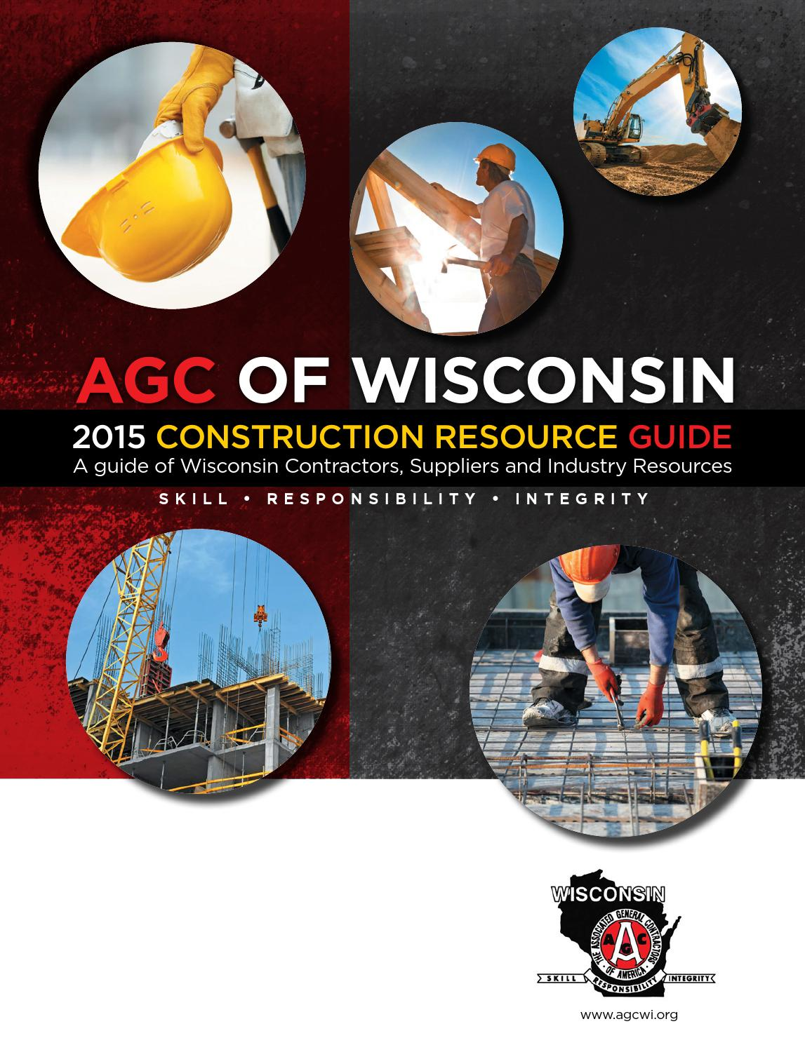 2015 Construction Resource Guide Agc Wi By Agc Wi Issuu