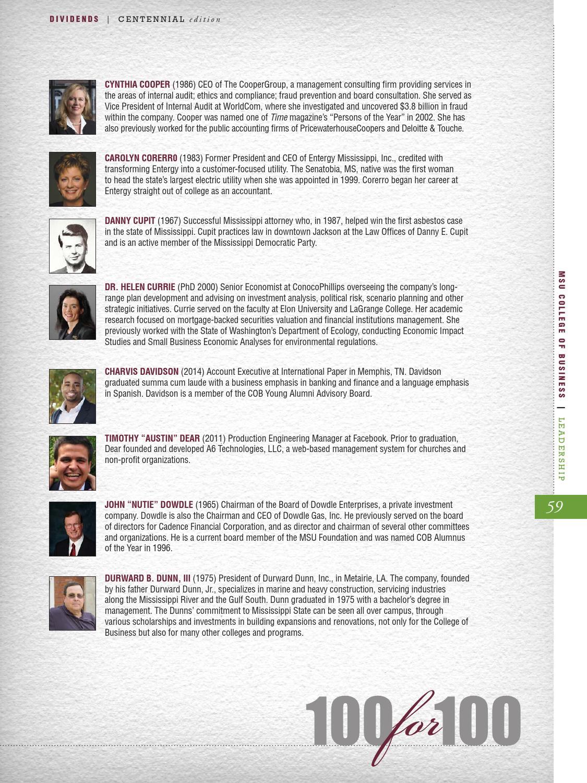 Dividends Magazine, 2015 Centennial Edition by MSU College