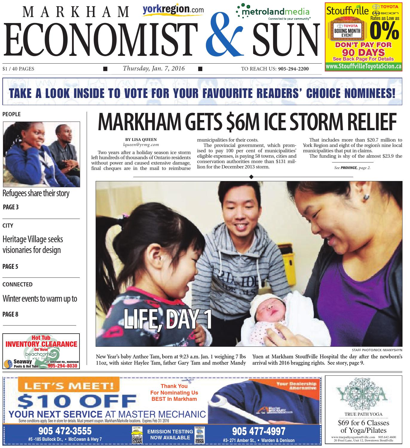 markham economist Markham economist and sun freight traffic could double if mississauga-milton initiative gains traction the prospect of twice as many freight trains rolling through south york region has local taxpayer groups reaching out to all levels of government to put the brakes on.