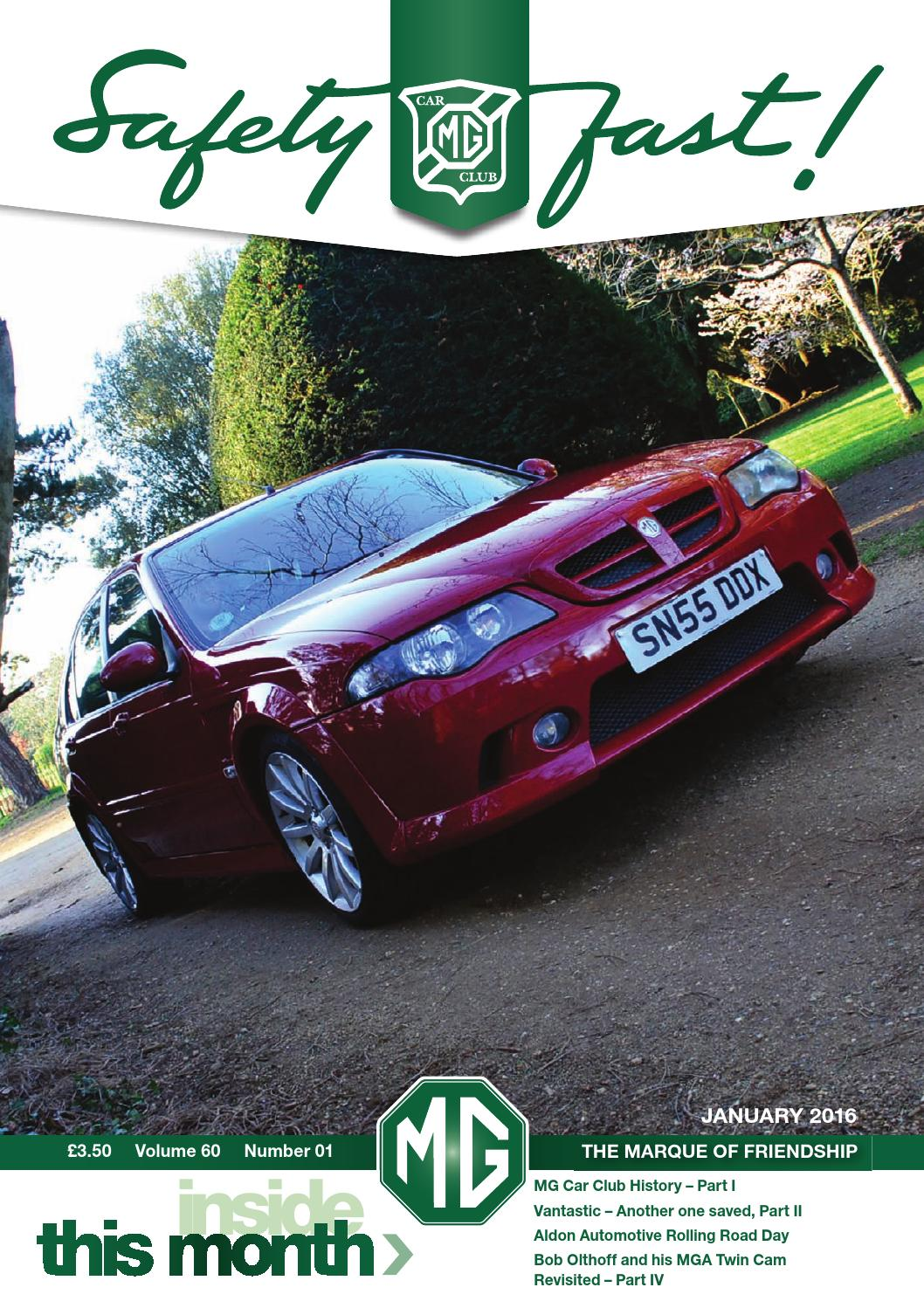 acccf6025b7 Safety Fast! January 2016 by MG Car Club - issuu