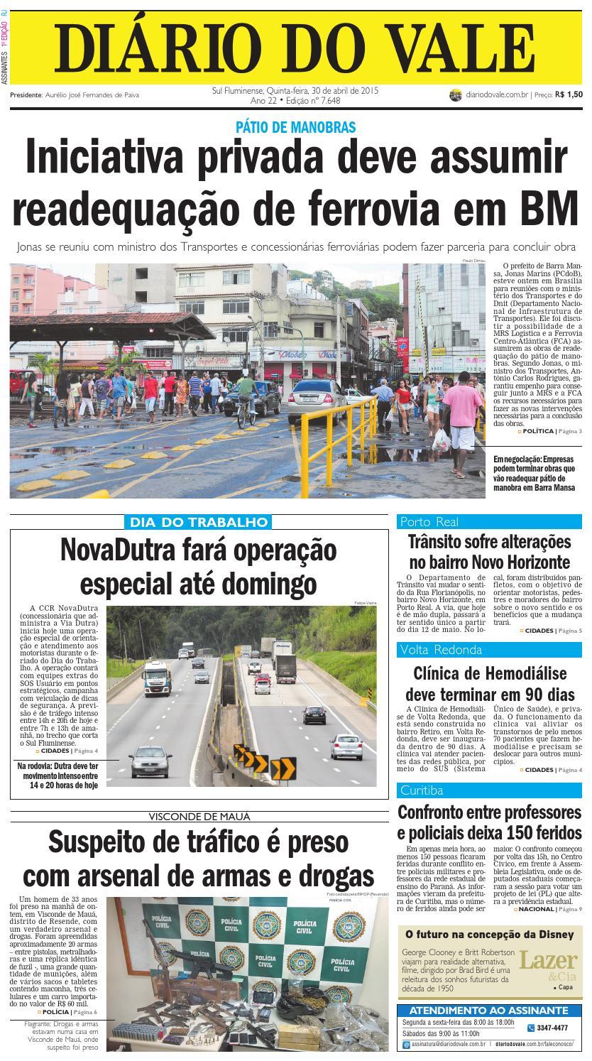 1d013cfa87e6c 7648 diario quinta feira 30 04 2015 by Diário do Vale - issuu