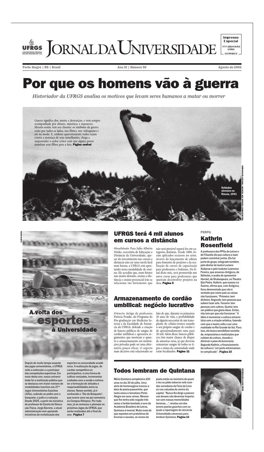 ca8c3873b43 Jornal da Universidade by Universidade Federal do Rio Grande do Sul - issuu