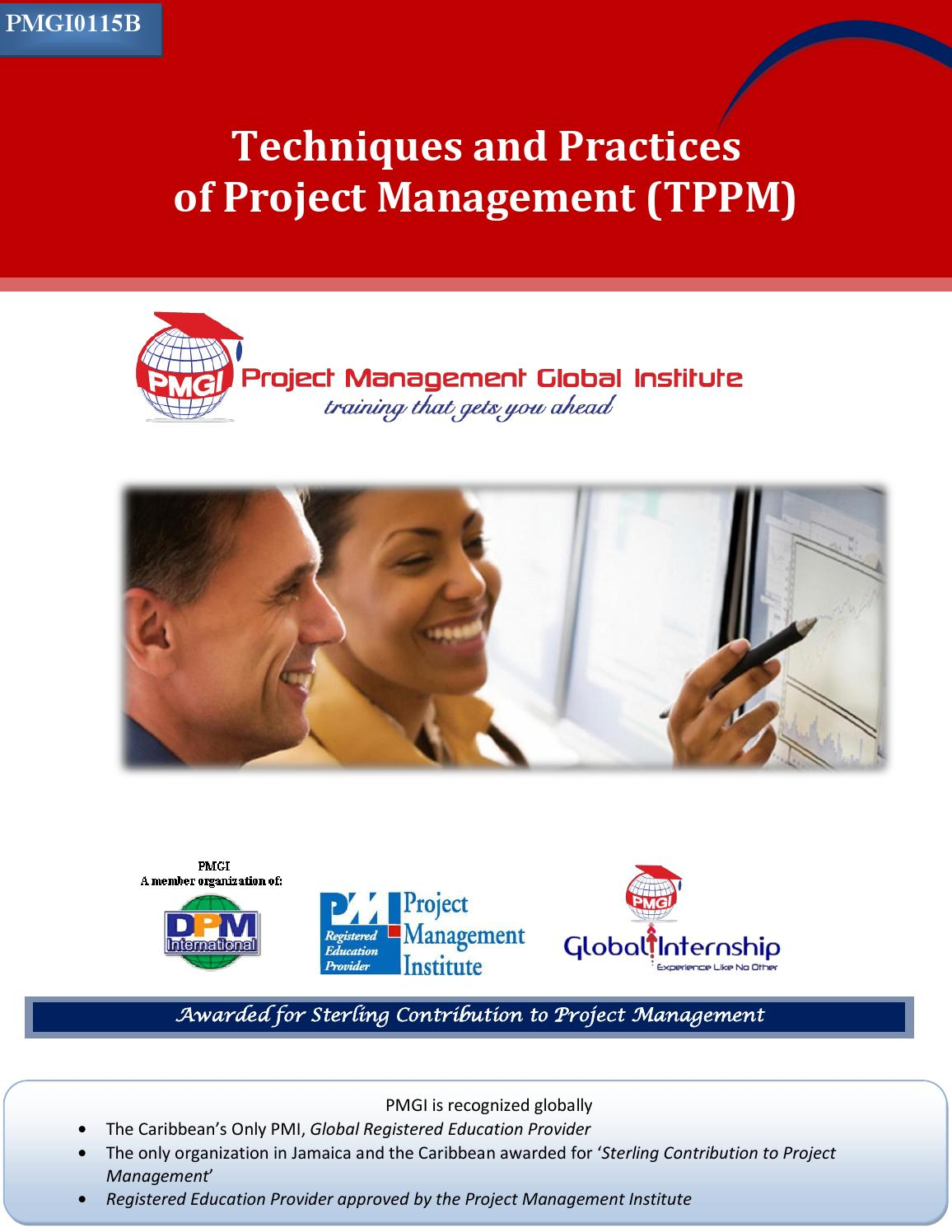 Techniques And Practices Of Project Management Tppm Pmgi Info Pack