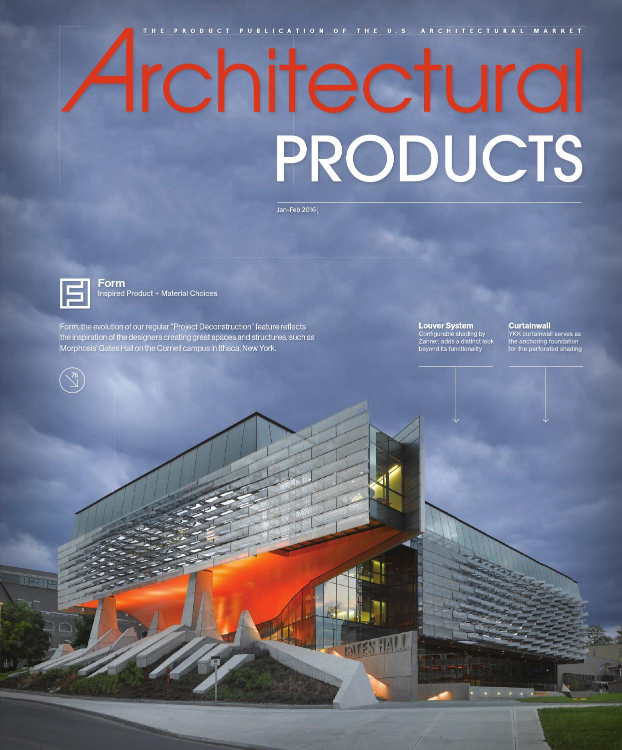 Architectural Products January February 2016 By