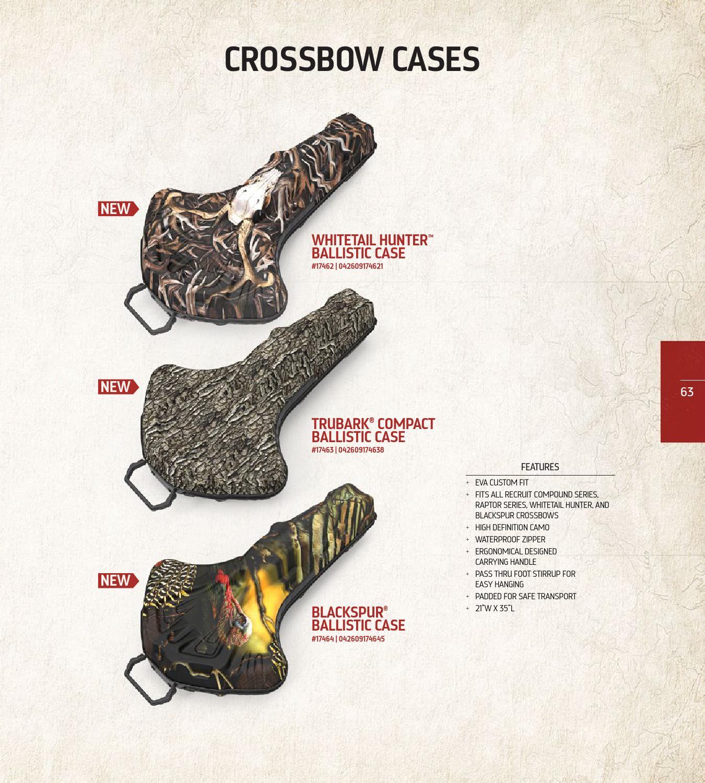 Barnett Whitetail Hunter Ballistic Waterproof Padded EVA Hanging Crossbow Case