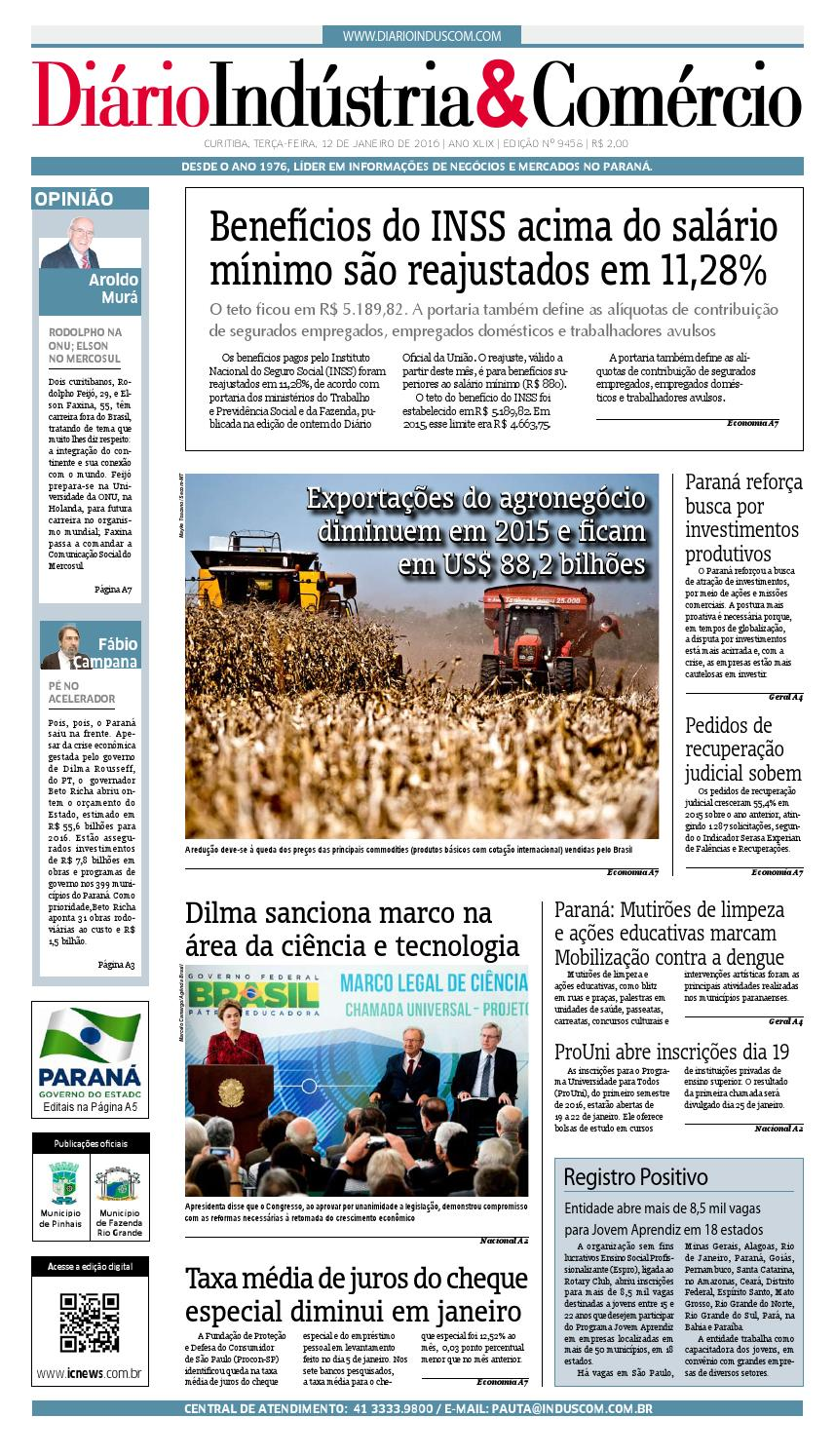 Diário Indústria Comércio - 12 de janeiro de 2016 by Diário Indústria    Comércio - issuu 7de5fd7ec1