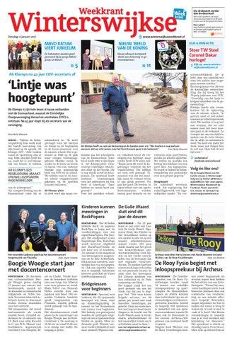 Boogie Woogie Bijzettafel.Winterswijkse Weekkrant Week2 By Wegener Issuu