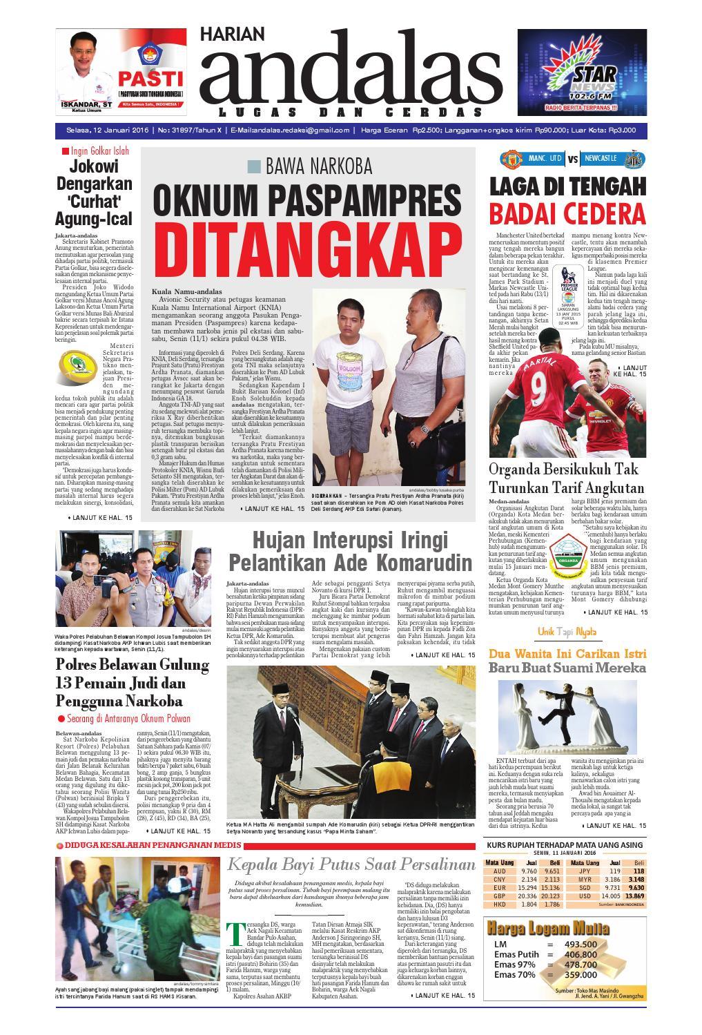 Epaper andalas edisi selasa 12 januari 2016 by media andalas - issuu 470a1fef63
