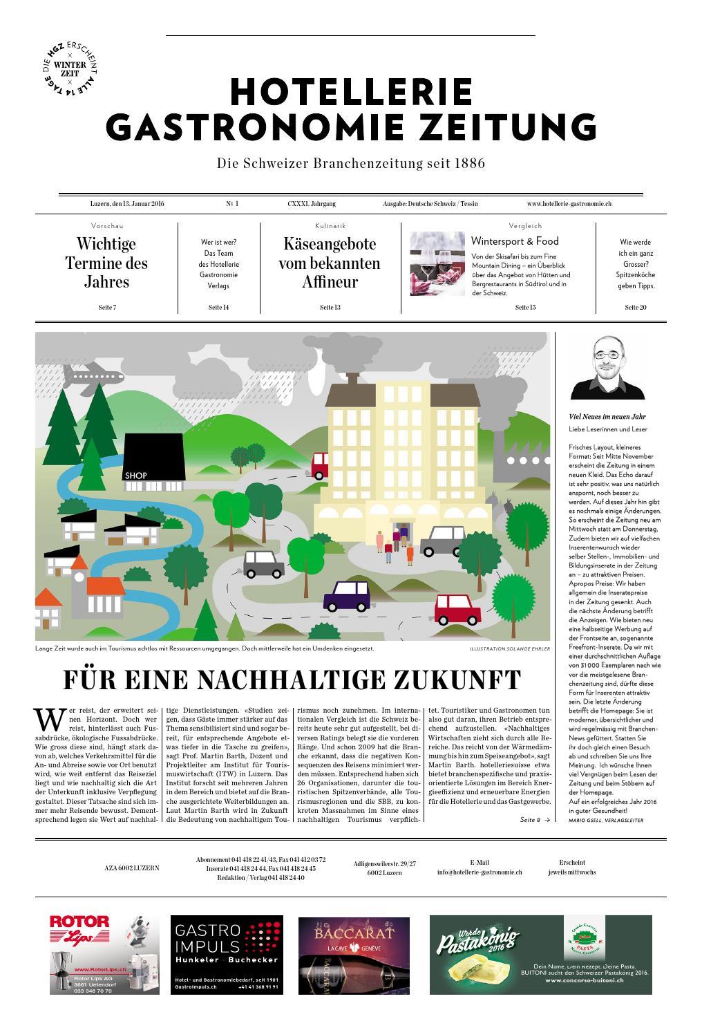 HG-Zeitung 1/2016 by Hotellerie_Gastronomie_Verlag - issuu