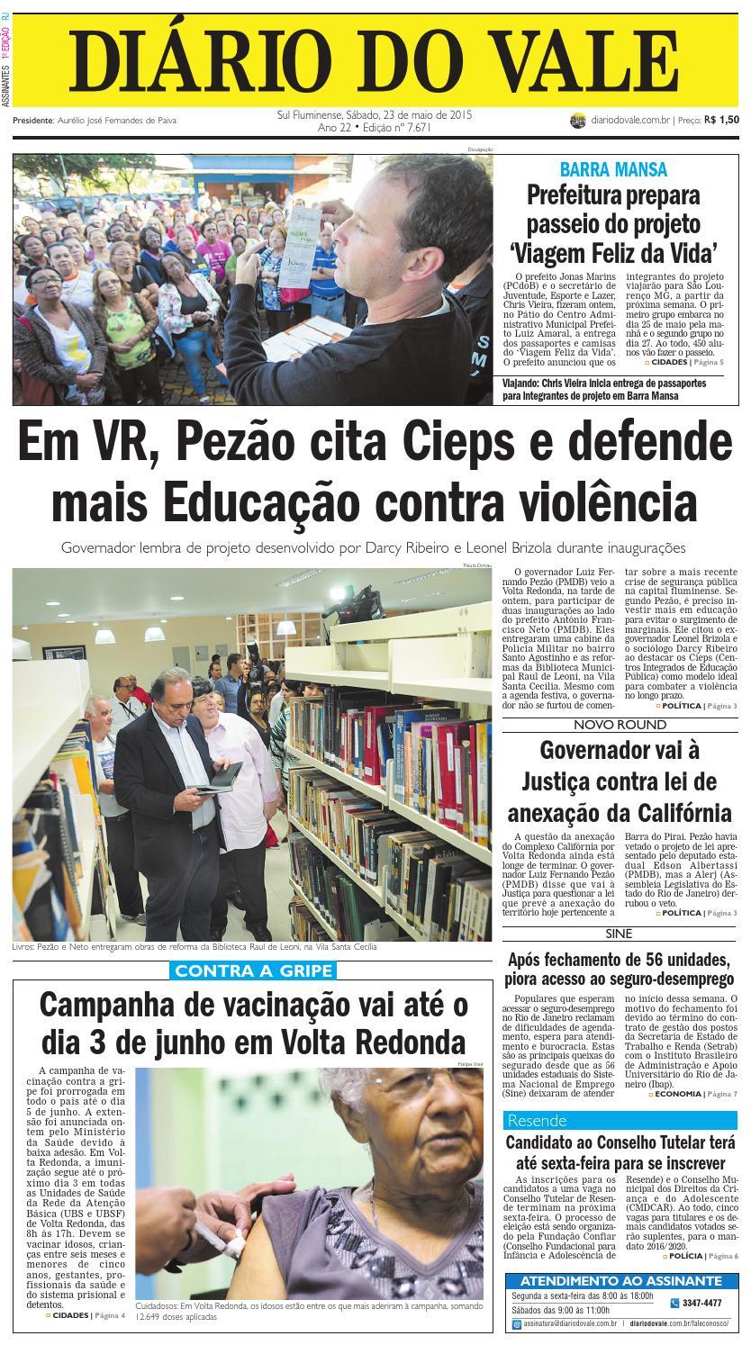 7671 diario sabado 23 05 2015 by Diário do Vale - issuu 34a787f08aeb7