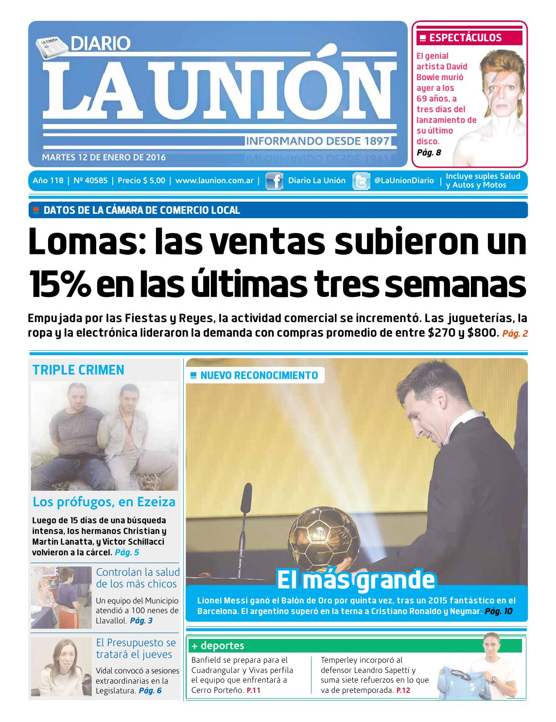12/01/2016 by Diario La Unión - issuu