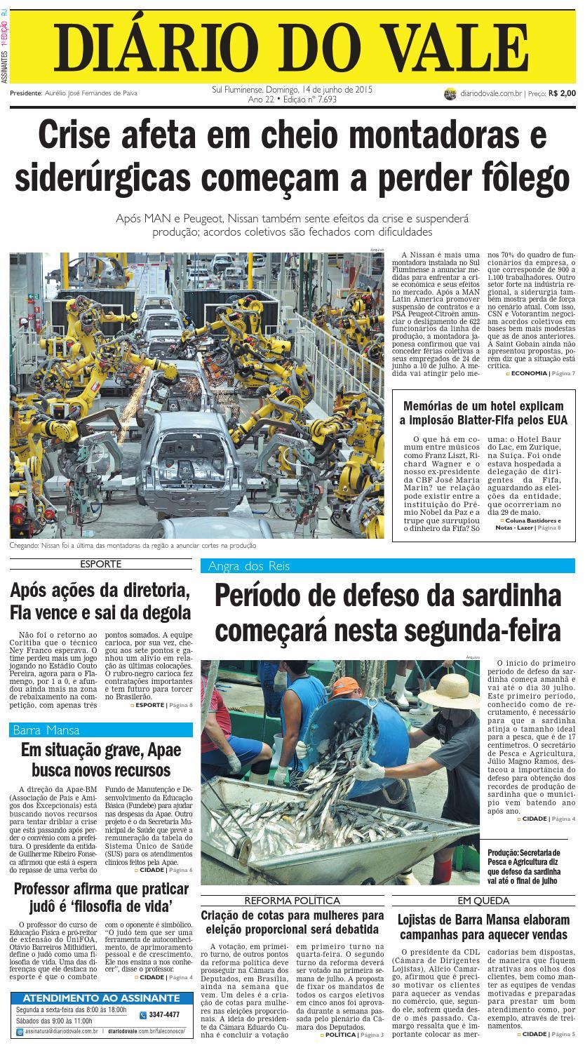 7693 diario domingo 14 06 2015 by Diário do Vale - issuu 14ca029e7e68e