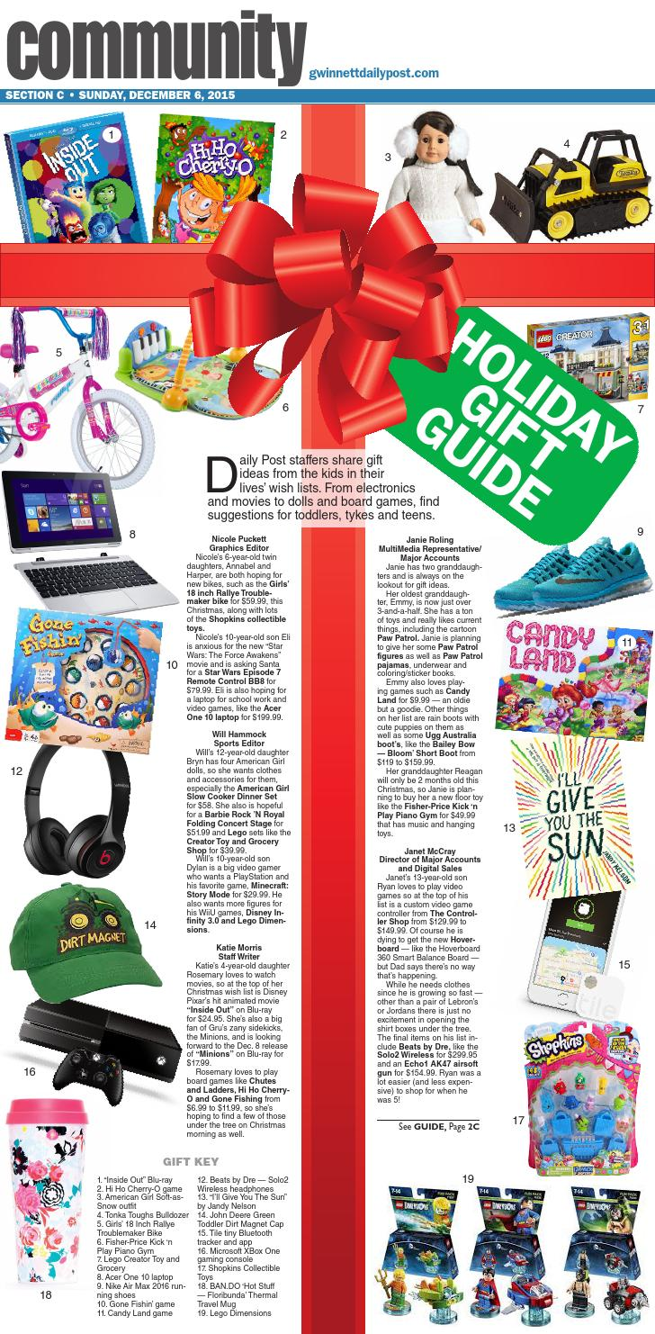 Holiday Gift Guide December 2015 by Gwinnett Daily Post Special ...