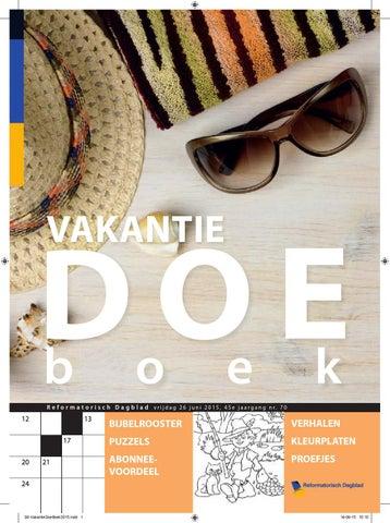 Vakantiedoeboek 2015 by erdee media groep issuu page 1 fandeluxe Image collections