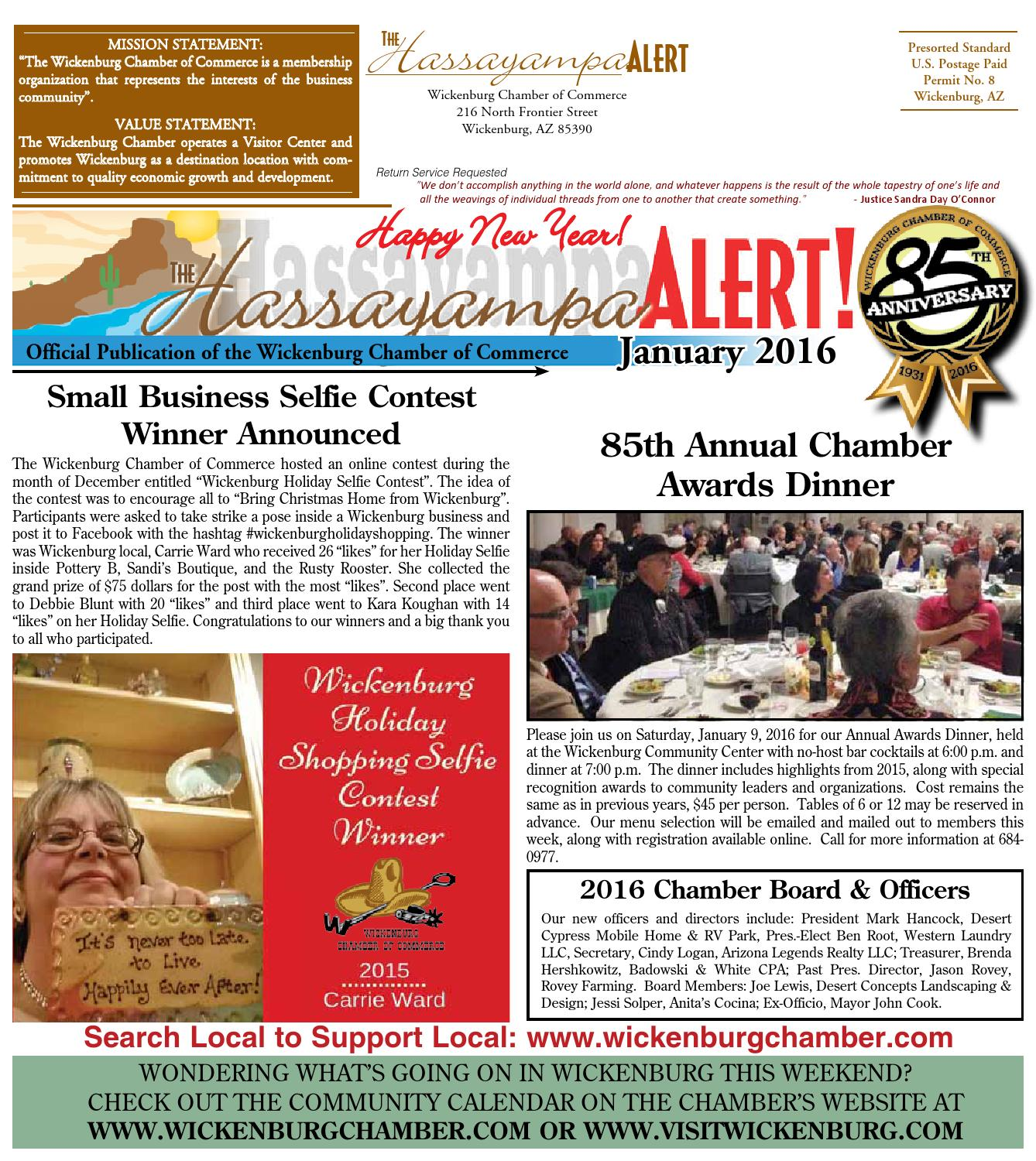 January Hassayampa Alert By Wickenburg Chamber Of Commerce