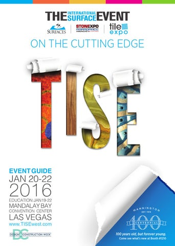 Tise 2016 Event Guide By Informa Architecture Design Network Issuu