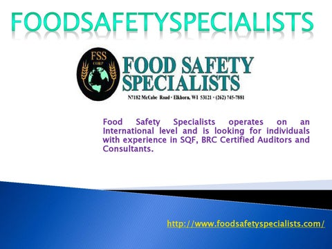 FSS CORP-Food Safety Specialists by Warren Gibert - issuu