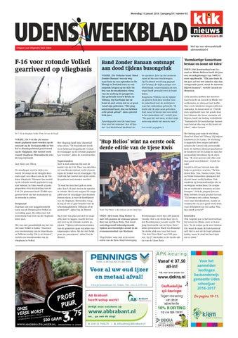 Udens Weekblad week 02 2016 by Uitgeverij Talvi - issuu