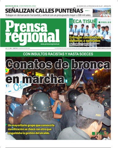 ba1eeea60df 13 01 2016 i by Diario Prensa Regional - issuu