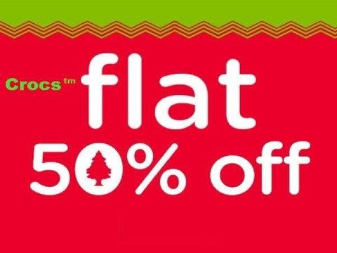 Crocs™ Sale – Get Flat 50% off on