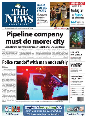Abbotsford News, January 13, 2016 by Black Press Media Group