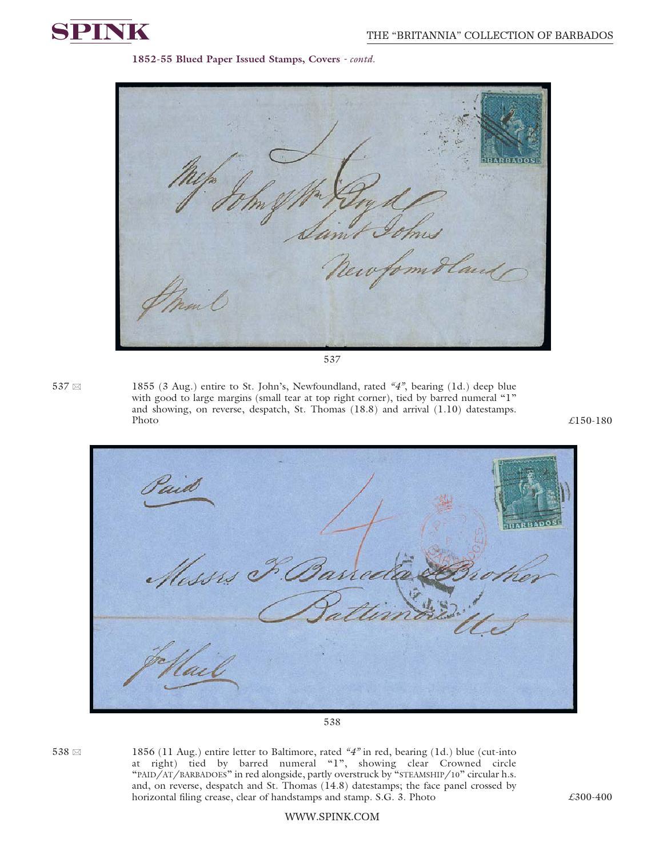 The Britannia Collection Of Barbados 16024