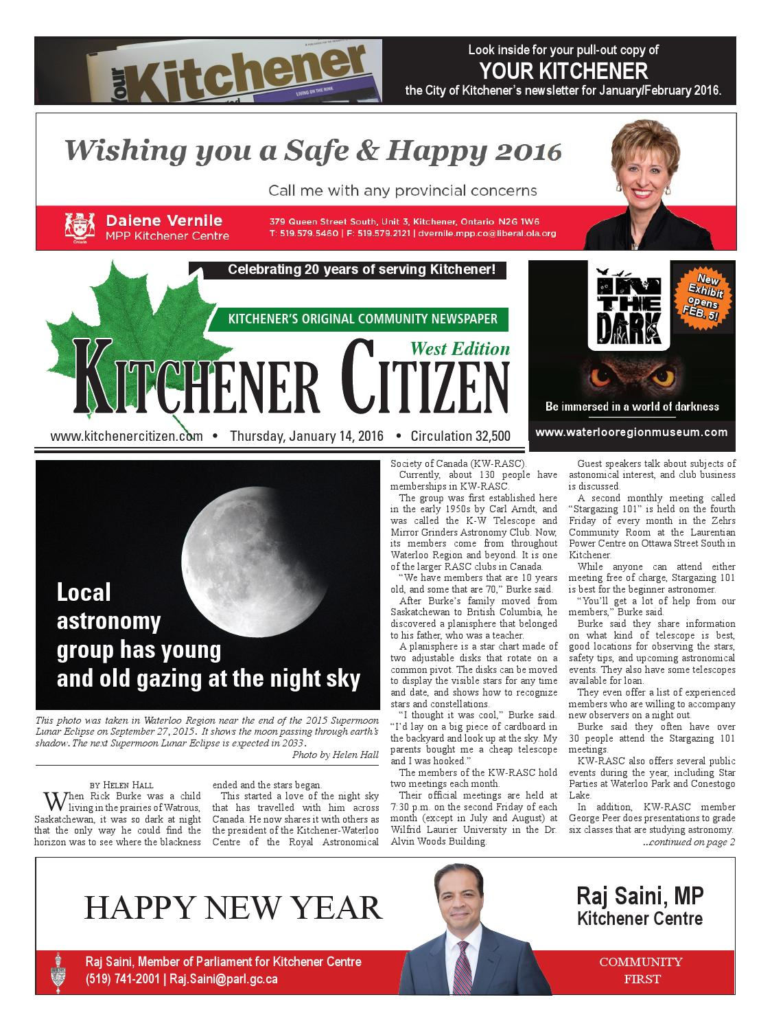 Kitchener Citizen - West Edition - January 2016 by Kitchener Citizen ...