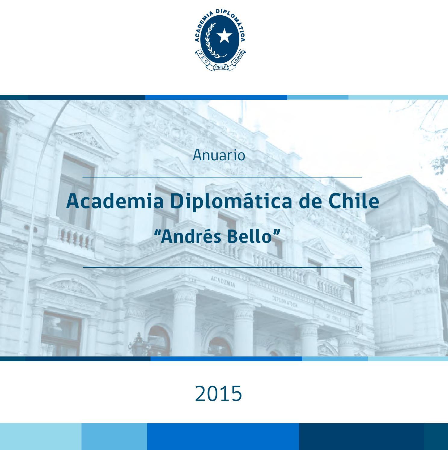 Anuario 2015 Academia Diplomatica de Chile \