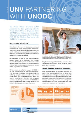 Unv Partnering With Unodc By United Nations Volunteers Issuu