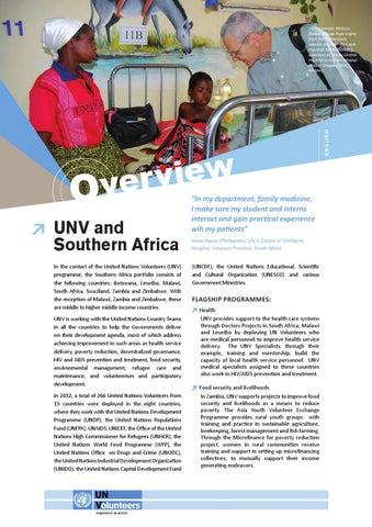 Unv and southern africa by united nations volunteers issuu page 1 publicscrutiny Image collections